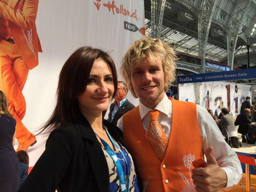 The #OrangeTwist winner from IMEX Frankfurt at The Meetings Show UK 2016